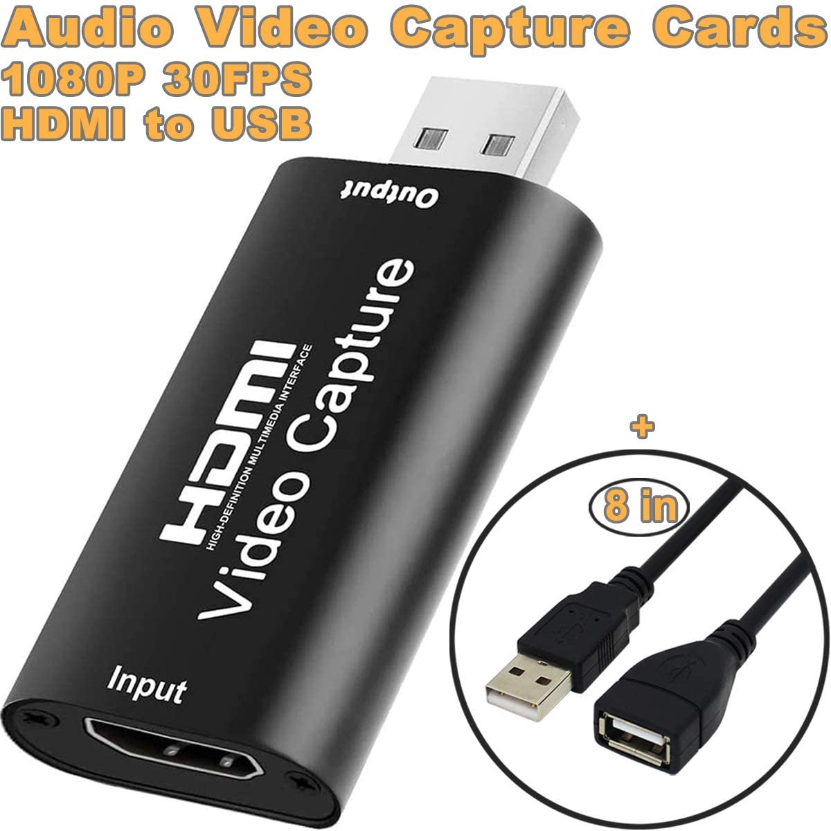 An example of a cheap HDMI capture dongle listing image from Amazon.